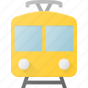 railroad, railway, train, tram, transport, transportation, vehicles icon