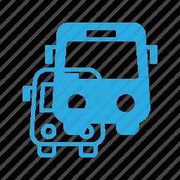 bus, station, transport, transportation, vehicles icon