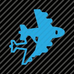 flight, fly, plane, transport, transportation, vehicles icon