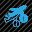 flight, info, plane, transport, transportation, vehicles icon