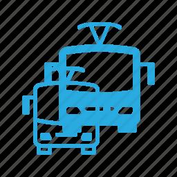 bus, transport, transportation, trolley, trolleybus, vehicles icon
