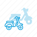 moped, motorcycle, transport, transportation, vehicles, vespa icon