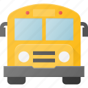 bus, school, transport, transportation, vehicles icon