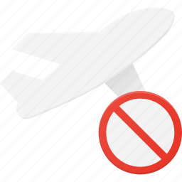 cancel, flight, plane, transport, transportation, vehicles icon