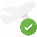 check, flight, plane, transport, transportation, vehicles icon