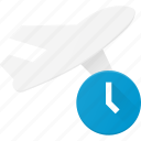 delay, flight, plane, transport, transportation, vehicles icon