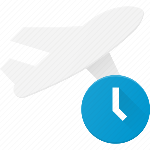 delay, flight, plane, transport, transportation, vehicles icon