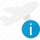 flight, info, plane, transport, transportation, vehicles icon
