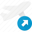 flight, off, plane, take, transport, transportation, vehicles icon