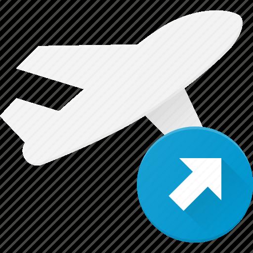 flight, off, plane, take, transport, transportation, vehicles icon