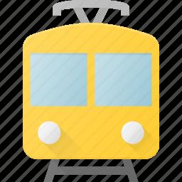 railroad, railway, train, tram, transport, transportation, vehicles icon