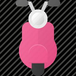 moped, motorcycle, transport, transportation, vehicles, vespa icon