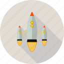 launch, rocket, space icon