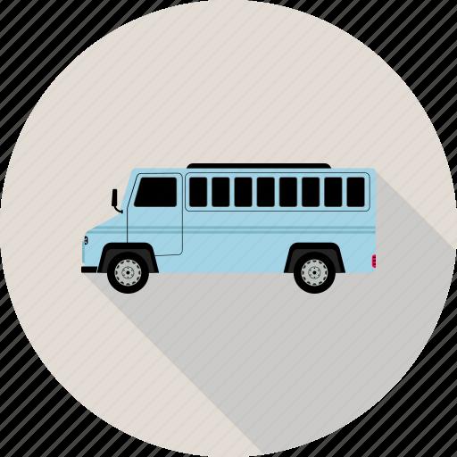 bus, coach, vehicle icon