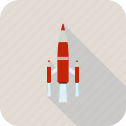 fly, rocket, space icon