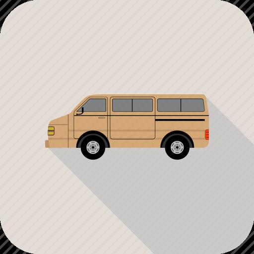 cargo, truck, van icon