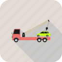 tow truck, transport, truck, vehicle, wrecker icon