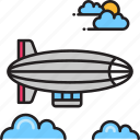 airship, aircraft, zeppelin icon