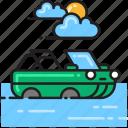 amphibious, amphibious vehicle icon