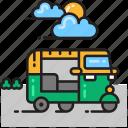 auto rickshaw, rickshaw, tuk tuk icon