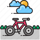 bicycle, bike, biking icon