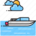 boat, ship, speed boat icon