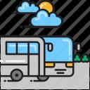bus, coach icon