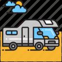 campervan, rv, trailer icon