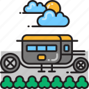 carriage, vintage, vintage car icon