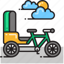 cycle, cycle rickshaw, rickshaw, tricycle icon