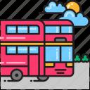 bus, double decker, double decker bus, double storey bus icon