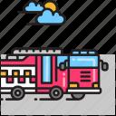 fire engine, fire truck, firefighter, firetruck