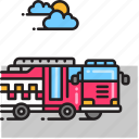 fire engine, fire truck, firefighter, firetruck icon