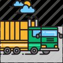 dump truck, garbage truck icon