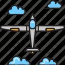 aircraft, drone, glider, plane icon
