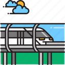 bullet train, hyperloop, metro, train icon