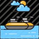 jet ski, motorboat icon