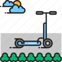 kick scooter, scooter icon