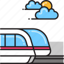 monorail, metro, railway, subway, train