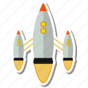 spacecraft, flight, spaceship, space