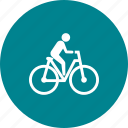 bicycycle, cycling, exercise, fitness, man, ride, transport