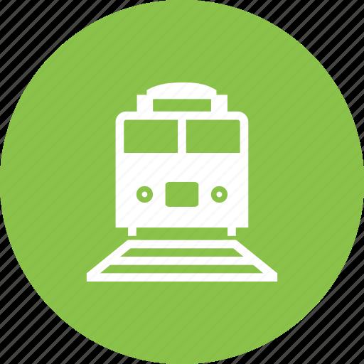 express, passage, railroad, railway, station, track, train icon