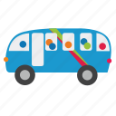 bus, car, city, townbus, transports, truck, vehicle icon