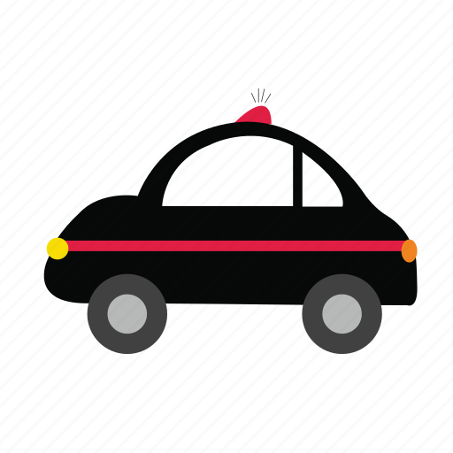 automobile, bus, car, guard, police, transports, truck icon