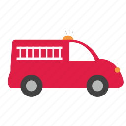 brigate, bus, car, emergency, fire, transports, truck icon