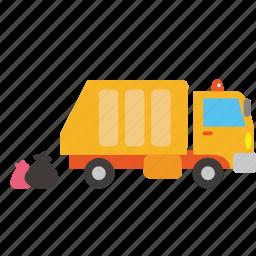 bus, car, garbage, moter, transport, truck, vehicle icon