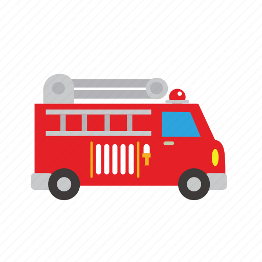 brigate, bus, car, emergency, fire, transport, truck icon