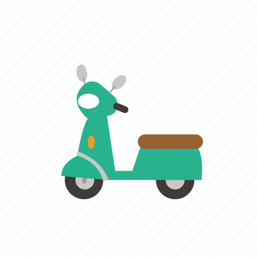 bike, bus, delivery, moter, sccoty, transport, vehicle icon