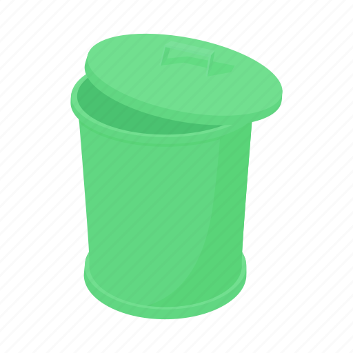 basket, bin, can, cartoon, garbage, rubbish, trash icon