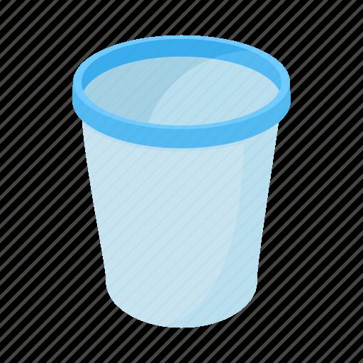 basket, can, cartoon, garbage, recycle, rubbish, trash icon